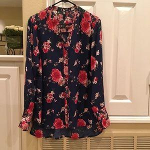 Hi Lo Floral tunic